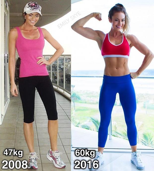 1- 47 kilodan 60 kiloya çıkan kadının muhteşem görüntüsü