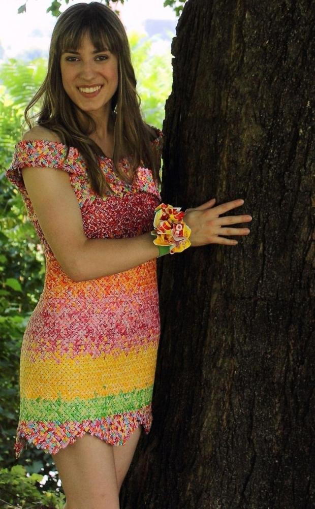 6. İşte harika elbise tasarımı...