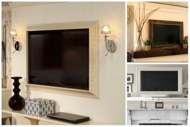 1. Basit bir çerçeve televizyonunuzu ve salonunuzu bambaşka bir hale sokacaktır..