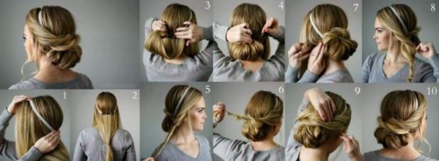 1. Bir bant saçı bakın nasıl değiştiriyor..