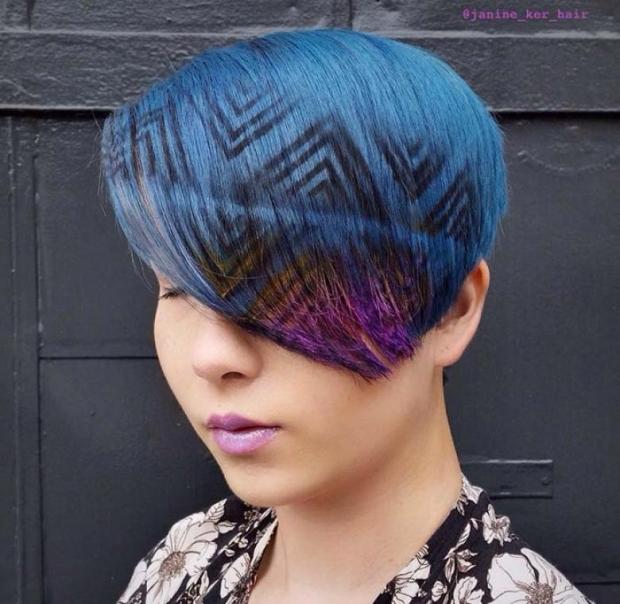 1. Son zamanların yeni saç trendi ''Saç Dövmesi'' modelleri galerimizde...